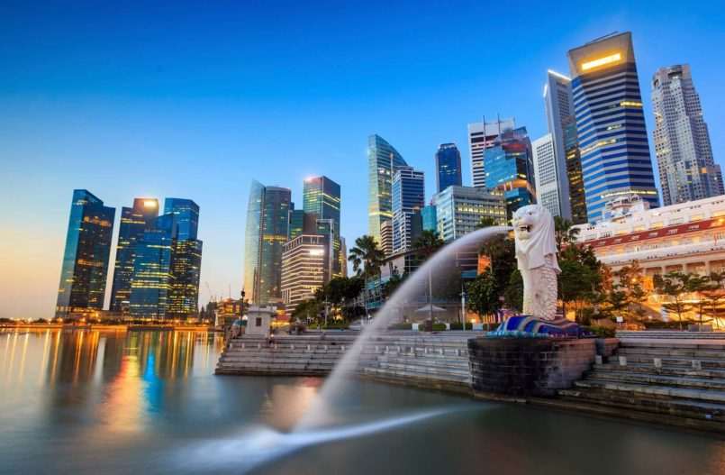 Havneområdet i Singapore