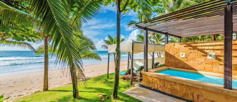 Privat strand og villa med eget svømmebasseng på Phuket