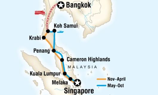 Fra Bangkok til Singapore